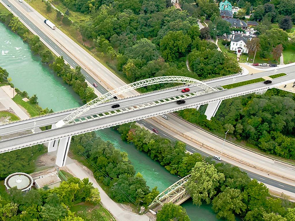 Burgoyne Bridge - Canam-Bridges