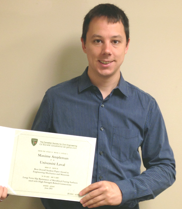 The CSCE Honors Canam-Bridges Intern Maxime Ampleman
