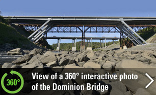 Tour the Dominion Bridge via a 360° Interactive Panoramic Photo