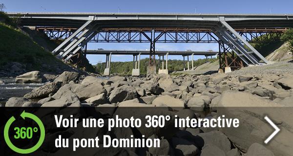 Nouvelle photographie interactive : Découvrez le pont Dominion en 360 degrés!
