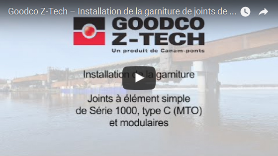 Joints de dilatation : installation de la garniture