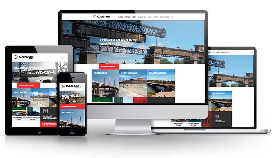 Canam-ponts lance son nouveau site Internet