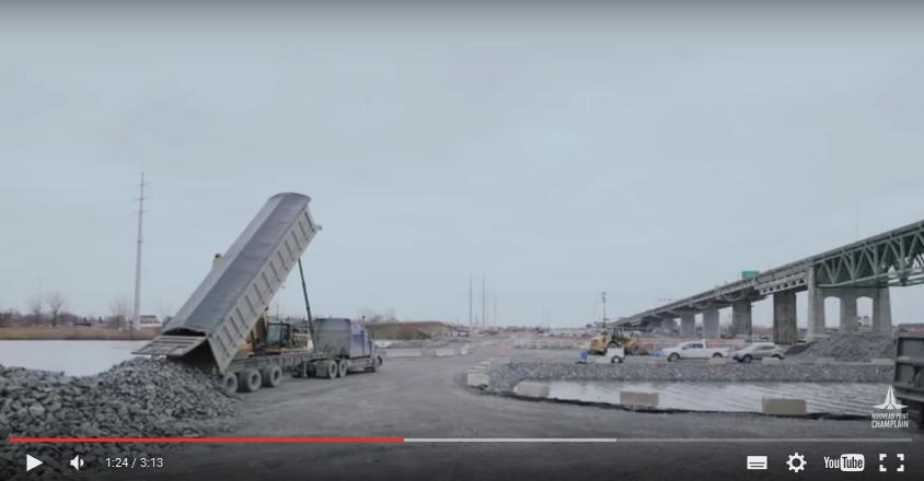 Vidéo intéressante sur les jetées du nouveau pont Champlain