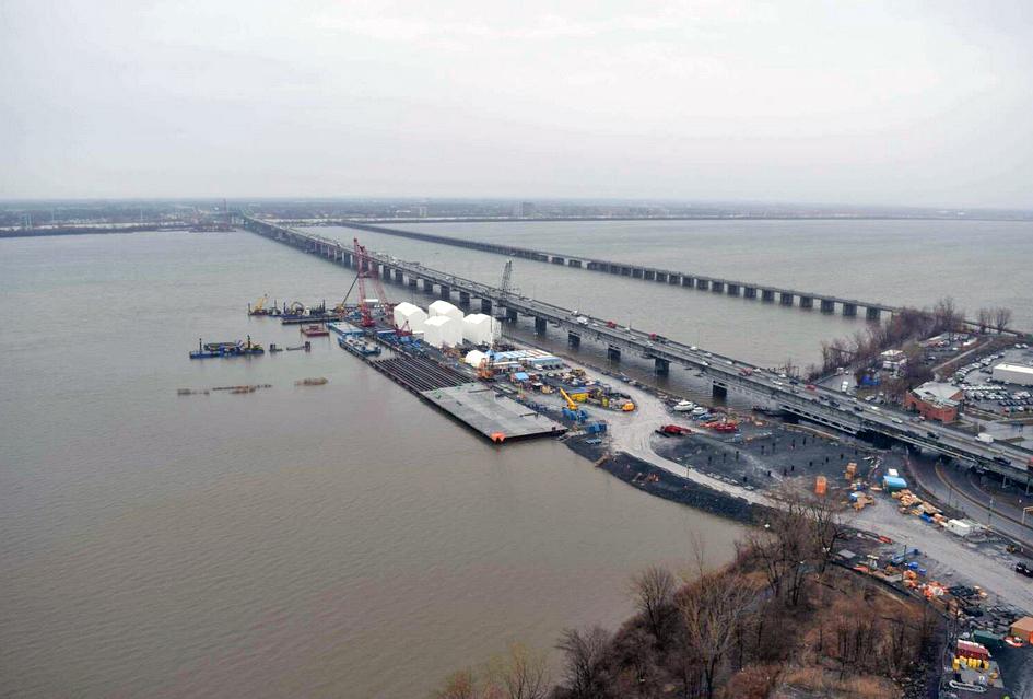 Suivez l'évolution du nouveau pont Champlain