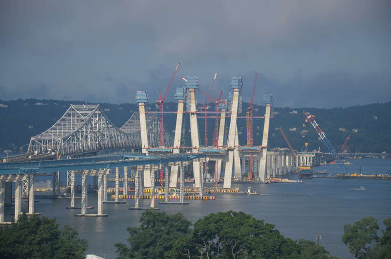 New NY Bridge: The Four Towers on the Northern Span are Getting Close to Their Full 419-Foot Height