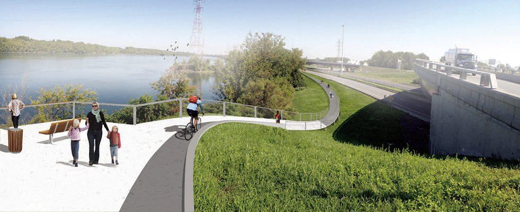 Un projet de passerelle cyclable pour Canam-ponts