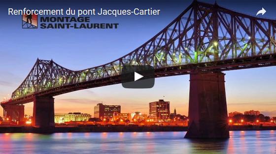 Programme majeur de renforcement du pont Jacques-Cartier : des défis uniques