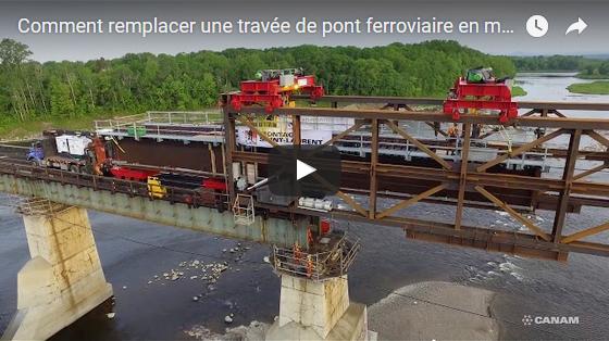 Service de remplacement rapide de travées de ponts ferroviaires