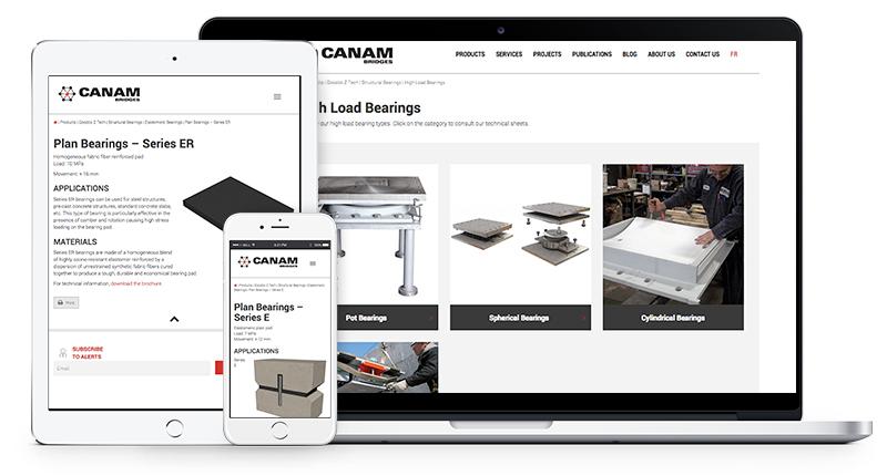 Canam-Bridges Changes the Ergonomics of Goodco Z-Tech Web Pages