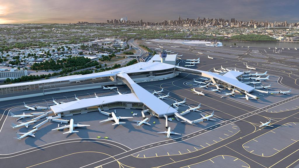 Quatre rampes d'accès pour l'aéroport LaGuardia à New York